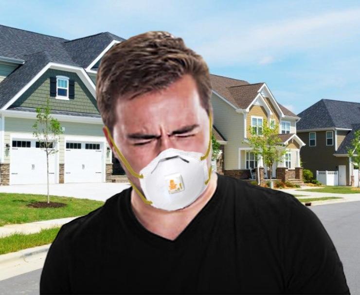 COVID Mask Breathe Guy